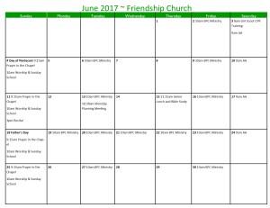 June 2017 Calendar